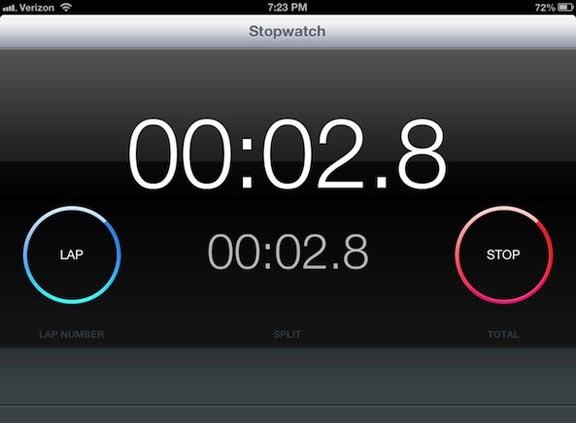iOS 6 iPad Stop Clock