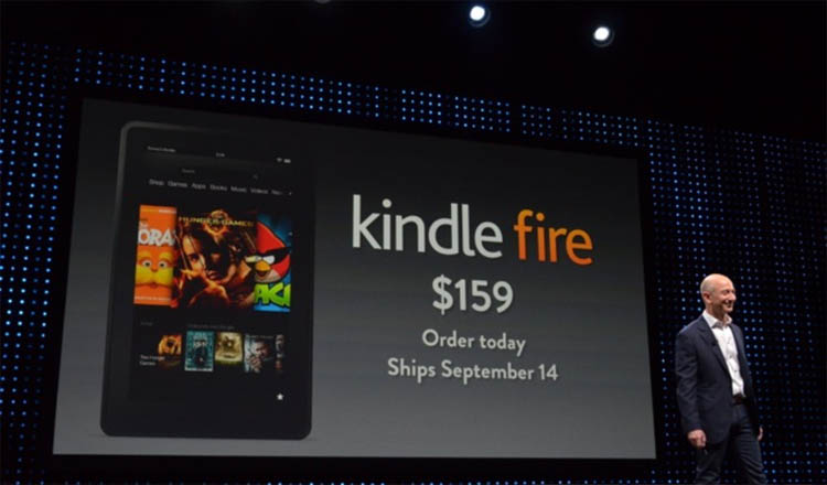 Amazon launch event for Kindles Fire