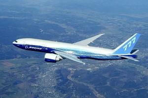 photo of 777-200LR in flight