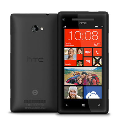 HTC 8X Black Windows 8 smartphone