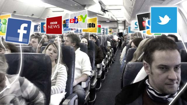 wi-fi on board a plane
