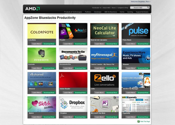 Android Apps and Games on AMD using AppZone Player