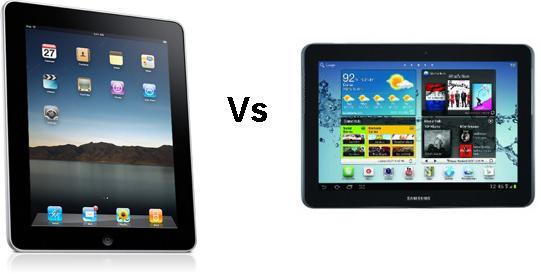 Apple iPad vs Samsung Glaxay Tab10.1