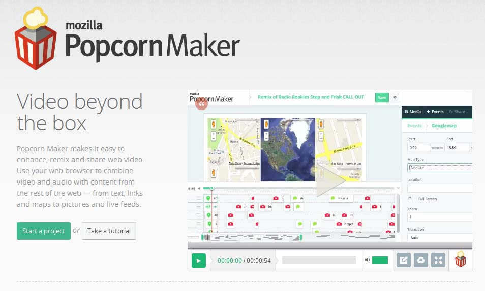 Mozilla Popcorn Maker online