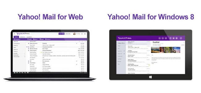 Yahoo Mail Web and Windows 8