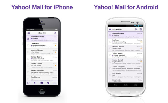 Yahoo Mail for Android and iOS