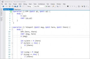Visual Studio QDK Q#